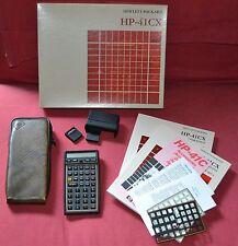 Calcolatrice Hewlett Packard Hp 41 CX, Completa, Boxed, Modulo MATH, Card reader
