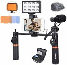 Viewflex Phone Video Kit VF-H7 Smartphone Video Rig with Recording Microphone an