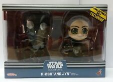 Hot Toys Star Wars Rogue One jyn & K-2SO Bobble-Head cosbaby k2so