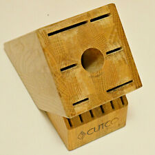 Cutco Homemaker Knife Block 13 Slot Oak Wood Storage Block