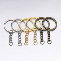 10pcs Polished Keyring Keychain Split Ring Short Chain Key Rings 25/30mm*60mm