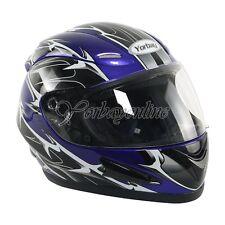 Motorradhelm Integralhelm Sturzhelm Rollerhelm Schutz Helm Gr. XS S M L XL Blau