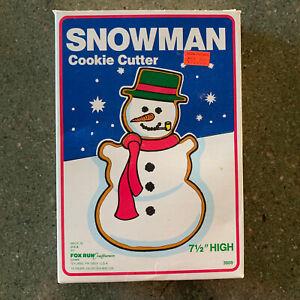 Snowman Metal Cookie Cutter Fox Run Craftsman 1984 USA 3609