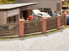 Noch 14235 gauge H0, Fence with Stone-Built Columns Laser Cut Minis Kit # NIP #