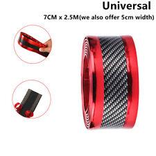 PVC 7cmX2.5m Carbon Fiber Car Door Sill Scuff Pedal Protector Strip Fender Cover