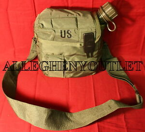 NEW US Military 2 Quart Collapsible Canteen w CAP & VGC 2QT OD Cover & Strap