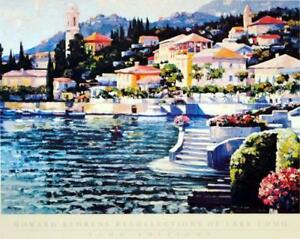 "Howard Behrens""Recollections of Lake Como"" Embellish FramedGiclee/Canvas Signed"