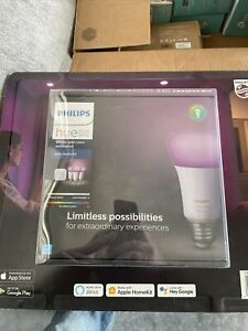 NEW Philips 3 Hue White and Color Ambiance Bulb Starter Kit 1455234