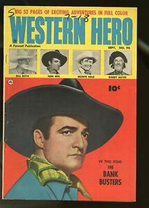 WESTERN HERO #94 FINE+ 6.5 TOM MIX / MONTE HALE / BILL BOYD 1950 FAWCETT