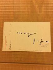 Cartolina autografa di Agostino Gemelli