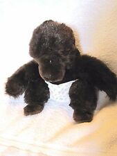 Baby Gorilla w diaper in setting position Black with dark eyes Feet & Face color