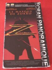 VHS French Movie Le Masque de Zorro - Antonio Banderas - Anthony Hopkins