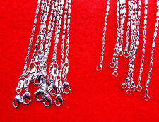 "10PC 22""  Wholesale Fashion Jewelry 925 Silver Plated Column Ball Chain Necklace"