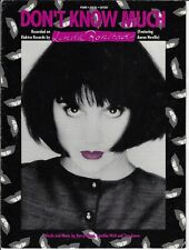 Linda Rondstadt Sheet Music Don'T Know Much 1980 Neville Piano Vocal Guitar