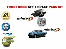 FOR Mitsubishi L200 DiD 2.5DT 2006->ON FRONT BRAKE DISCS + DISC PADS SET