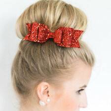Kids Girls Baby Headwear Red Bow Flower Hair Band Accessories Headband