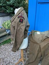 More details for very good 1949 pattern  durham light infantry captain's  battle dress uniform