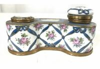 Antique Old Paris French Porcelain Inkwell