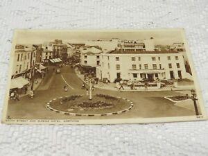 POSTCARD VINTAGE 1955 SOUTH STREET AND MARINE HOTEL WORTHING