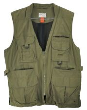 JEEP Vest Safari 9-Pocket Hunting Military Green Fishing Safari 9 Pocket Large