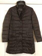 Sisley Women's Padded Jacket Coat in Dark Chocolate Brown Sz EU 42 UK 8/10 New