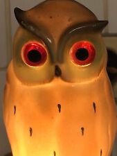 Veilleuse Chouette Ancienne Vers 1930 Porcelaine Antique Owl Porcelain Lumière
