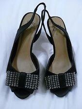 Black Bow Diamante Stiletto Heels Miss KG Shoes Kurt Geiger Size 36