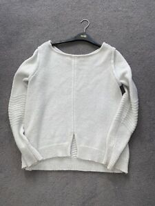 Ladies Pure Collection Gray  100% Cashmere Basic Jumper Size 8
