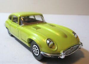 Corgi Toys 1970's Jaguar 4.2 litre 'E' Type 2+2 V12 Sports Car Yellow Version.