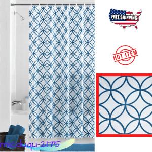 Hadley Blue Waterproof PEVA Shower Curtain, 70 x 72 in Fit Standard Size Bathtub