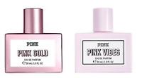 NEW VICTORIAS SECRET PINK GOLD / VIBES PERFUME EAU DE PARFUM Body Mist Spray