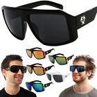 Biohazard Goggle Style Mens Designer Sunglasses Dark / Mirror Lens Color Shades
