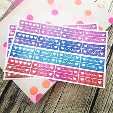 64 Weekday stickers, planner stickers, Jewel, Erin Condren, happy planner #1007