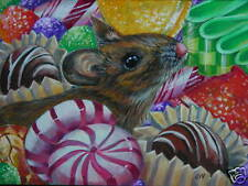Mouse Animal Christmas Candy Still life print