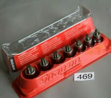 """Snap On Tools 3/8"""" Drive Stubby TORX Driver Socket Set in Magnetic Tray (469)"""