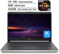 HP 14 inch Touchscreen AMD Ryzen 3 2.60GHz 4/8GB RAM 128/256/512GB SSD Laptop