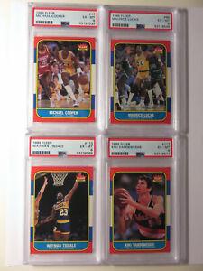 1986 86 Fleer Basketball 4 Cards PSA 6 Lot M.Cooper Lucas W.Tisdale K.Vandeweghe