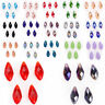 10pcs 10x20mm Teardrop Faceted Pendant Glass Crystal Loose Beads Accessories New