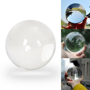 100mm Clear Glass Crystal Ball Glass Lens Sphere Photography Decoration UK Stock