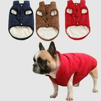 Winter Pet Dog Clothes Warm Buttons Sweater Coat Puppy Vest Jacket New
