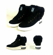 WOMENS LADIES GIRLS FUR LINED LACE UP WINTER  ANKLE  BOOTS ARMY COMBAT TRAINERS