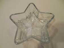 Clear Glass Star Shaped Nut Bowl Candy Dish
