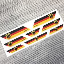 Germany German flag 3d domed emblem decal sticker car BMW VW Mercedes Audi