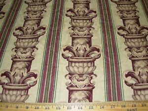 ~7 7/8 YDS STANLEY KING NEOCLASSICAL ~COTTON DRAPERY UPHOLSTERY FABRIC FOR LESS~