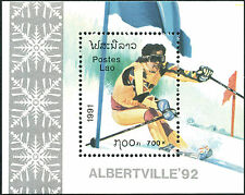 LAOS Bloc N°114** jeux olympiques Albertville 92, 1991, olympic games Sc#1027 NH