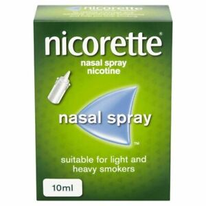 """Nicorette Nasal Spray  10ml   """"""""  SUPER FAST SHIPPING FROM USA  """""""""""