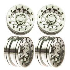 4Pcs 1.9'' Beadlock Wheel Rims for RC 1/10 Truck Rock Crawler CNC Alloy Metal #7