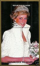 LADY DIANA, PRINCESS OF WALES WITH TIARA IN WHITE DRESS