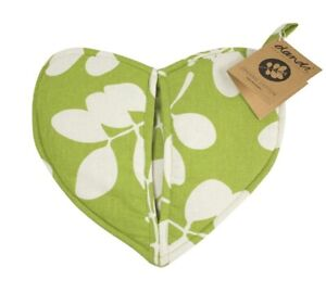NEW NEW Dandi Organic Cotton Oven Mitt Heart - Leaf Green