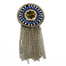 Round Patch Sewing bag Decoration Inca Kuchi Afghan Banjara Tribal beads AF41